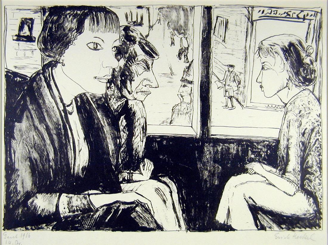 In der Tram, 1916
