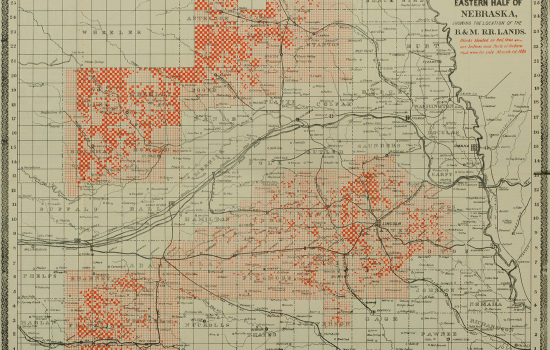 Railroads And The Making Of Modern America Search - Detailed map of nebraska