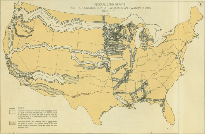 Railroads And The Making Of Modern America Search - Map of us in 1823