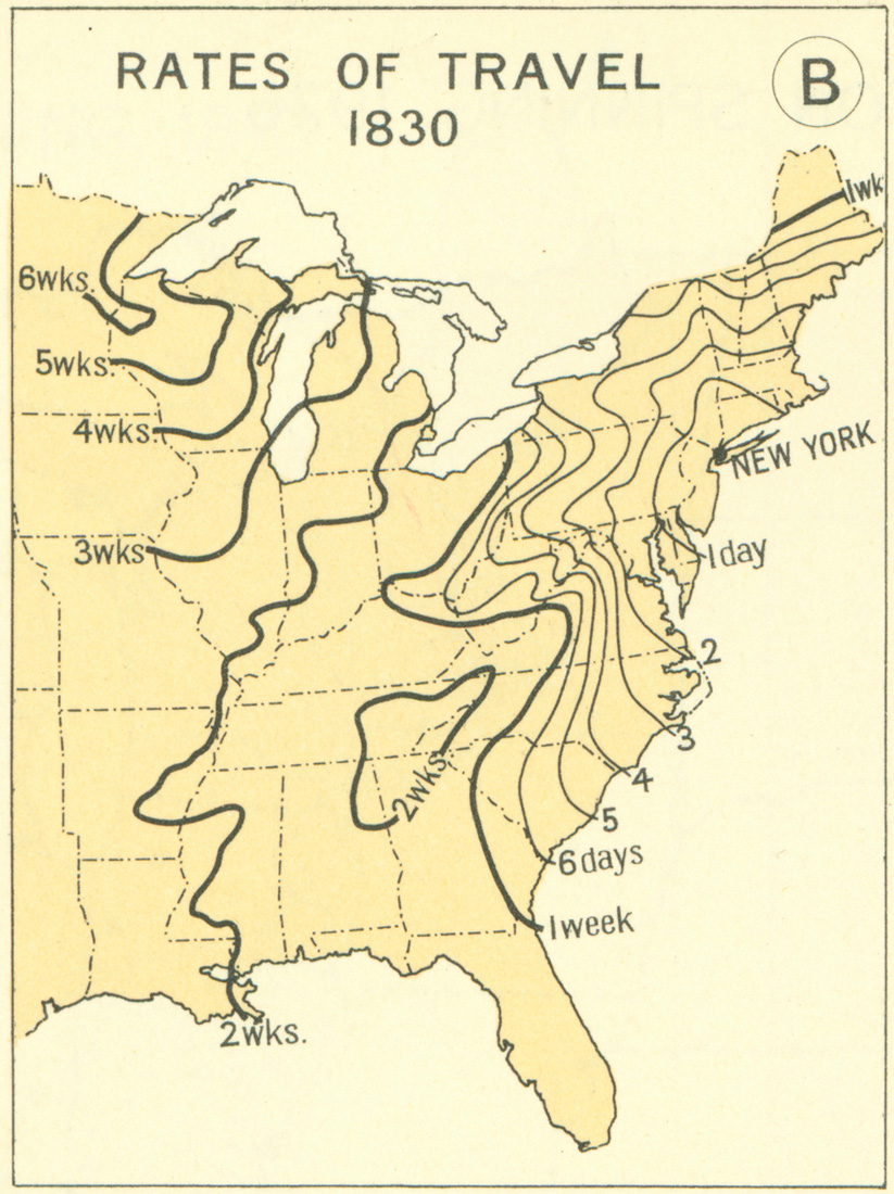 Railroads And The Making Of Modern America Search - Map of us in 1830