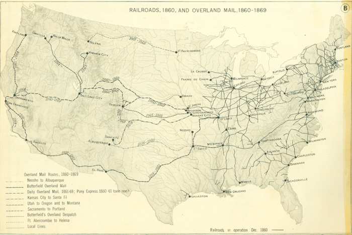 Railroads And The Making Of Modern America Search - 1850 map of us
