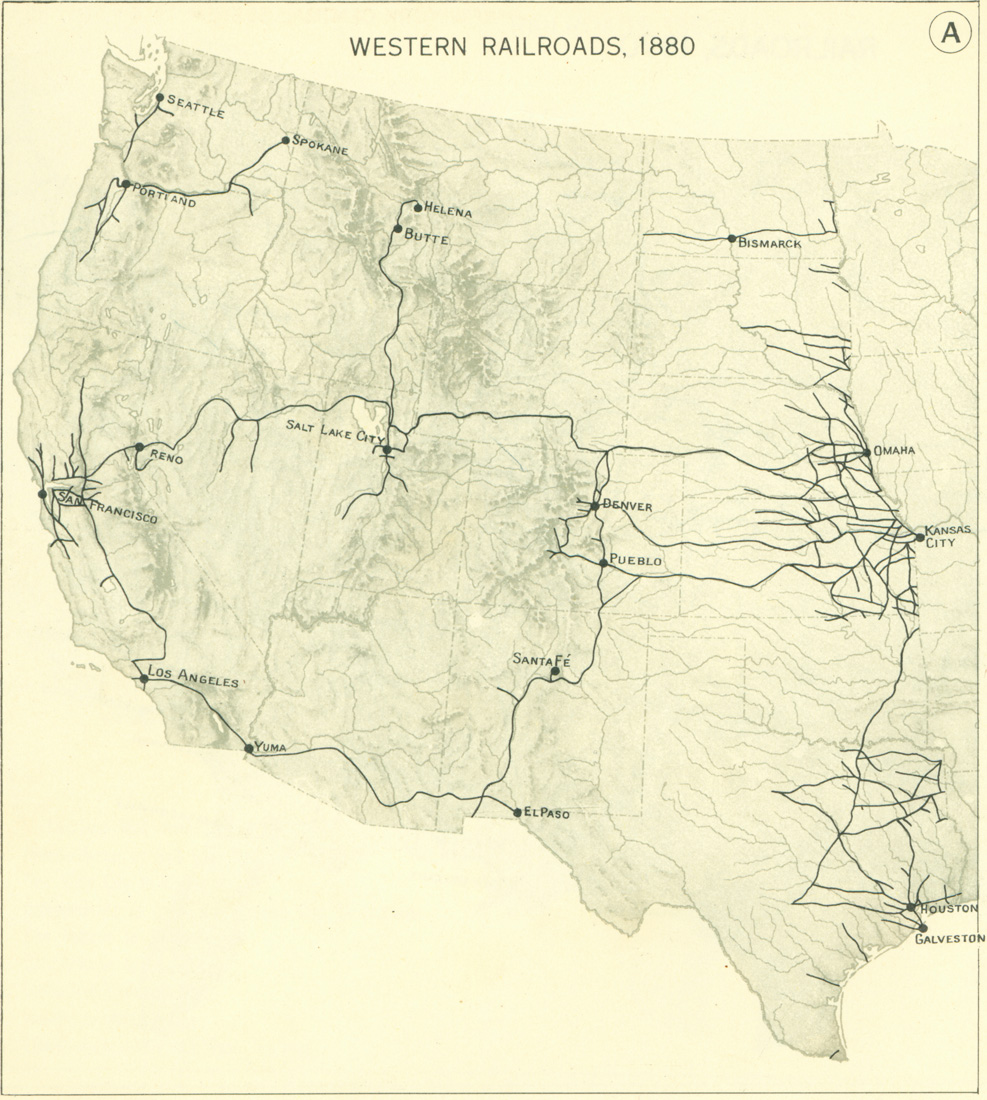 Railroads And The Making Of Modern America Search - Railroad map us 1880