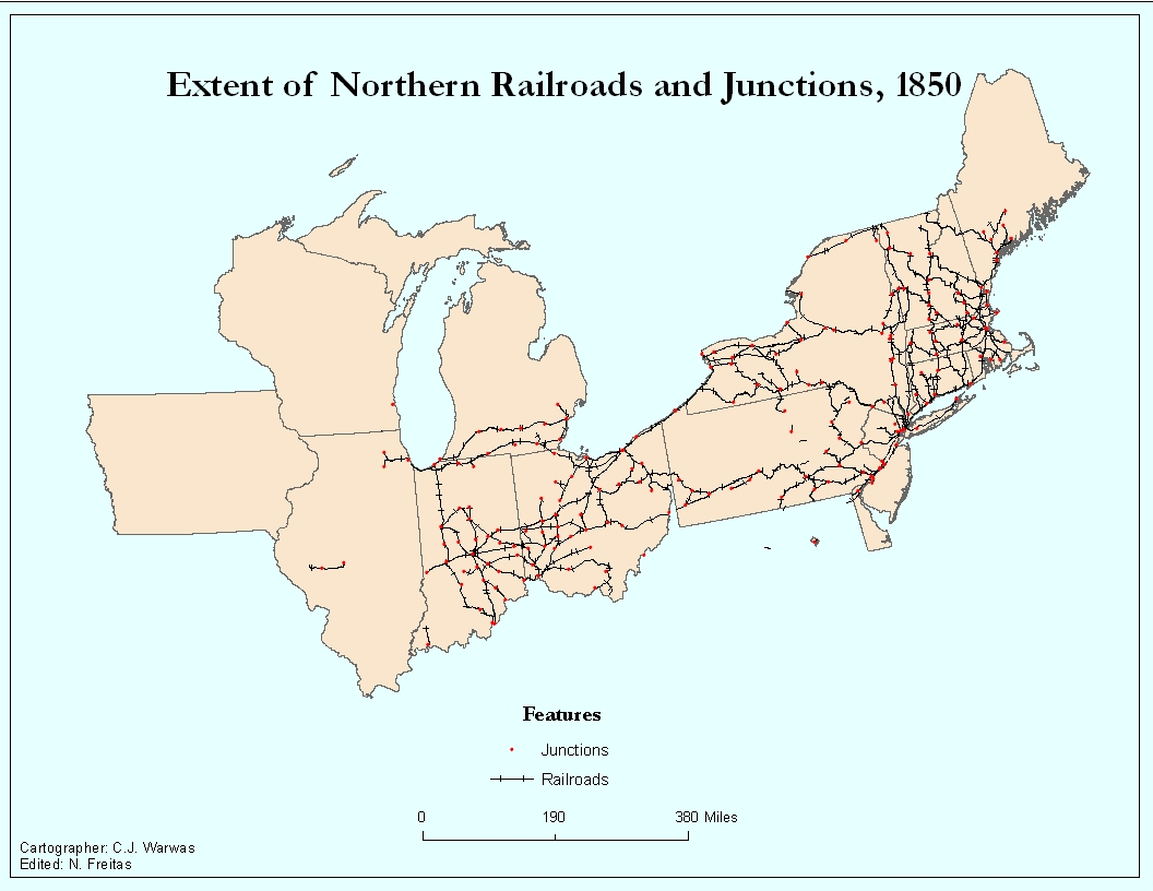 Railroads And The Making Of Modern America Views - Us railroad map 1860