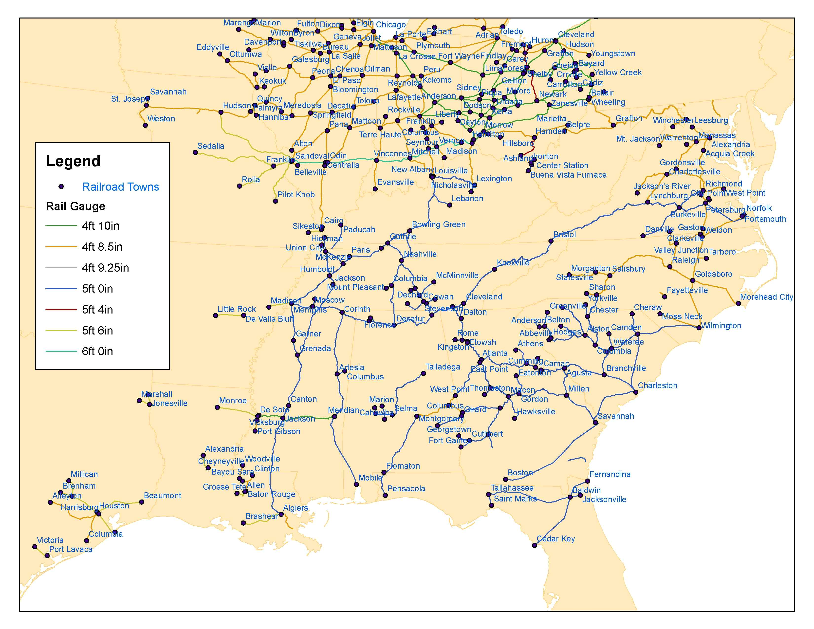 Best Image Of Diagram Us Railroad Map  More Maps Diagram - Us railroad map 1860