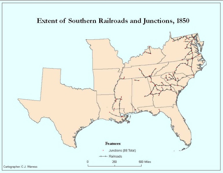 Railroads And The Making Of Modern America Views - Us map before civil war